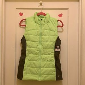 Cute lime green Fila vest